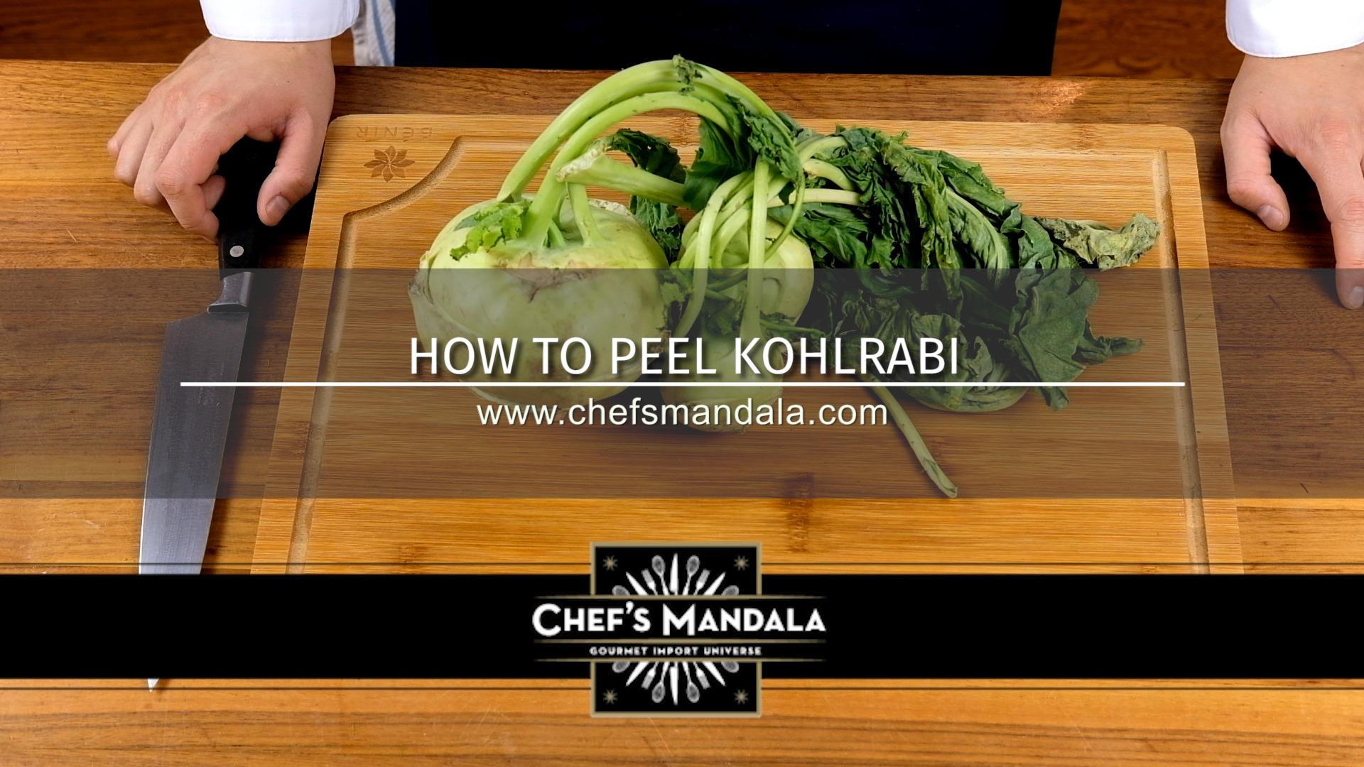 HOW TO PEEL KOHLRABI