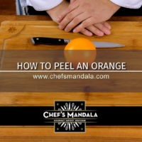 HOW TO PEEL AN ORANGE