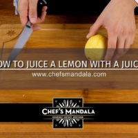 Lesson 30 – How to Juice a Lemon with a Juicer