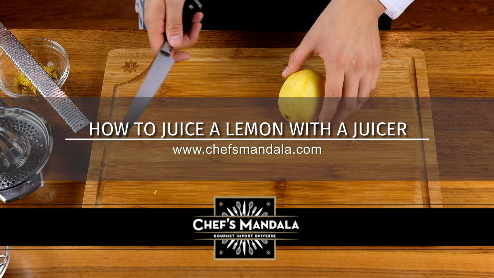 HOW TO JUICE A LEMON WITH A JUICER