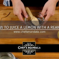 HOW TO JUICE A LEMON WITH A REAMER