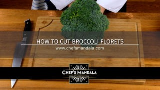 HOW TO CUT BROCCOLI FLORETS