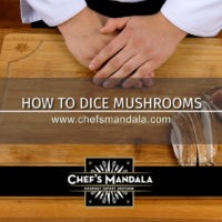 HOW TO DICE MUSHROOMS