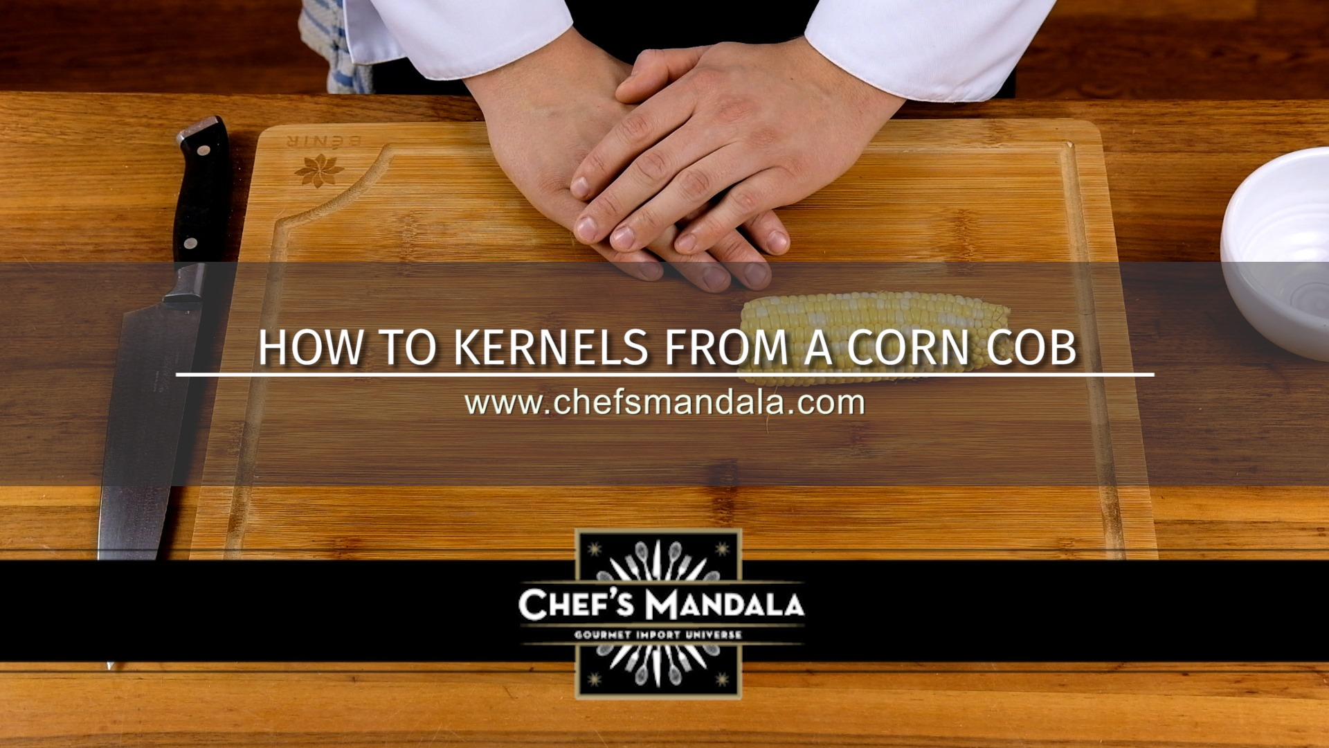 HOW TO CUT KERNELS FROM CORN COB