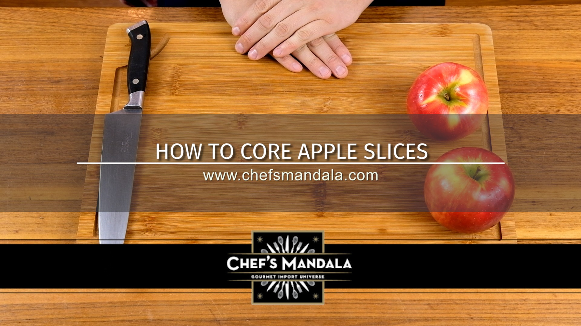 HOW TO CORE APPLE SLICES