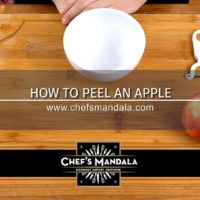 HOW TO PEEL AN APPLE