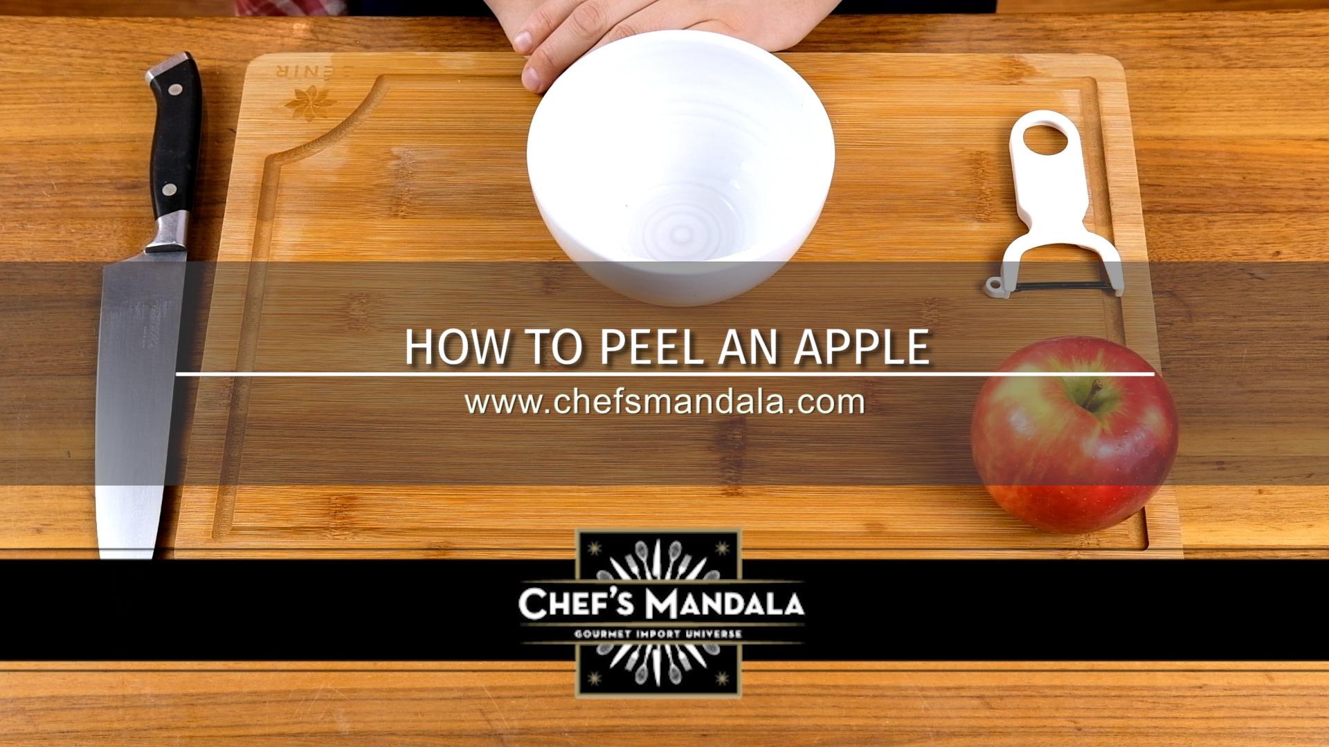 HOW TO PEEL AN APPLE