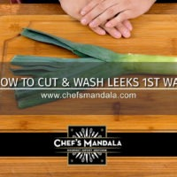 Lesson 65 – How to Cut & Wash Leeks (1st Way)