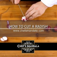 HOW TO CUT A RADISH