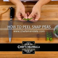 HOW TO PEEL SNAP PEAS