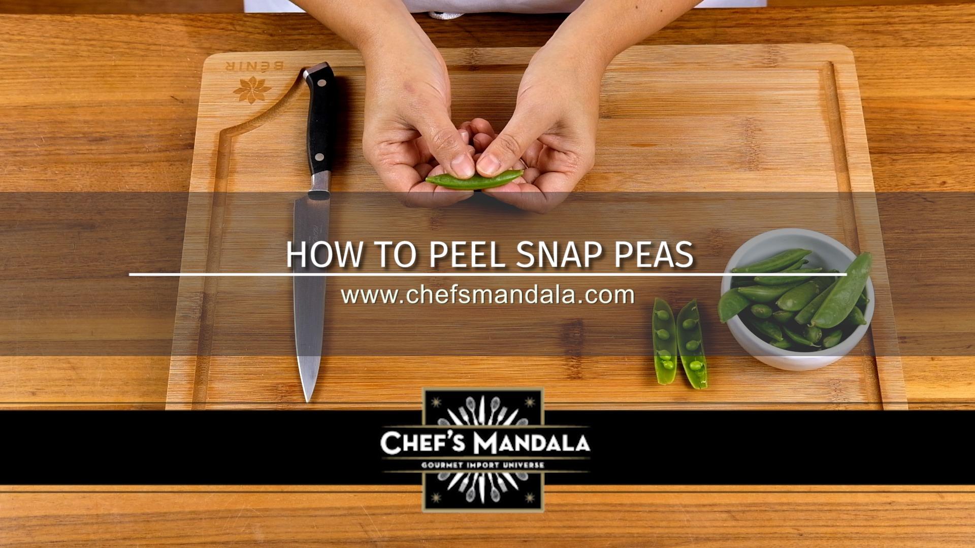 HOW TO PEEL SNAP PEAS