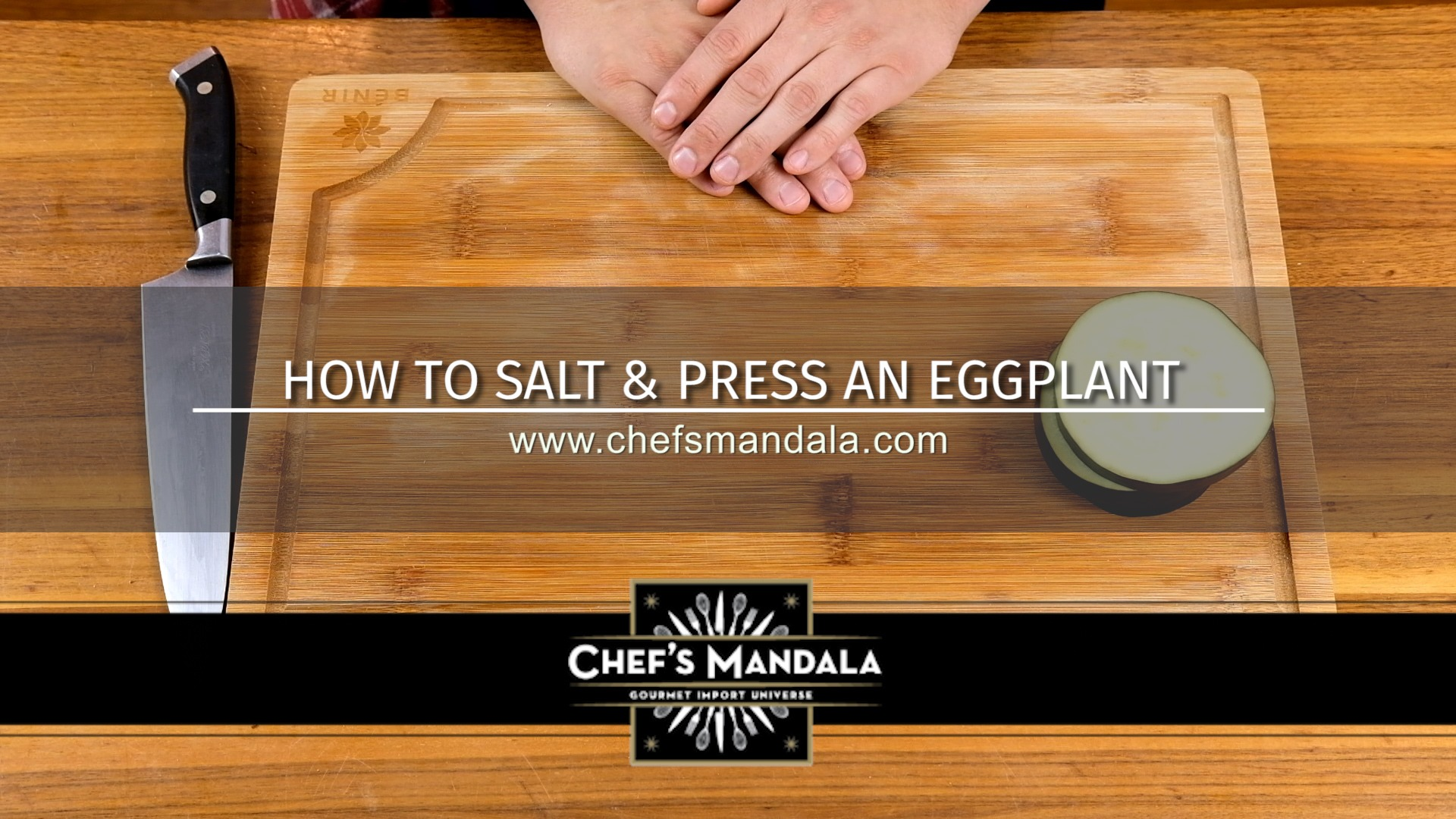 HOW TO SALT & PRESS AN EGGPLANT