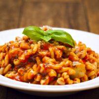 Gemelli Pasta with Tomato Zucchini Sauce