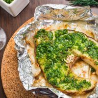 Grilled Swordfish Dill Pesto