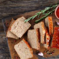 Meatloaf garlic rosemary tomato
