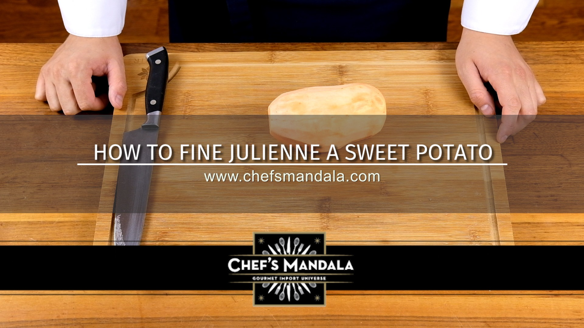 how to julienne a sweet potato