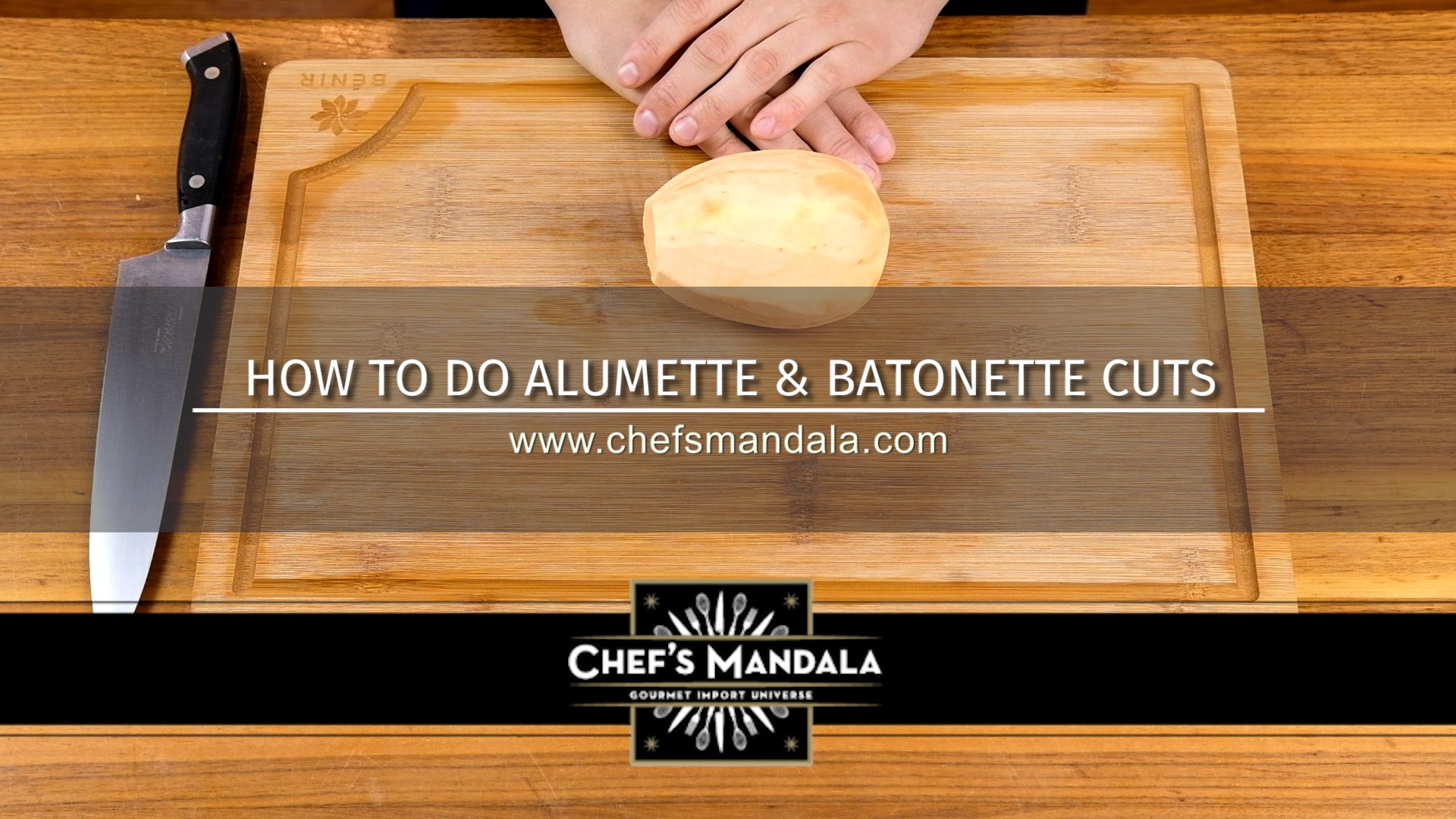 How to do alumette and batonette cuts