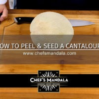 how to peel and seed a cantaloupe