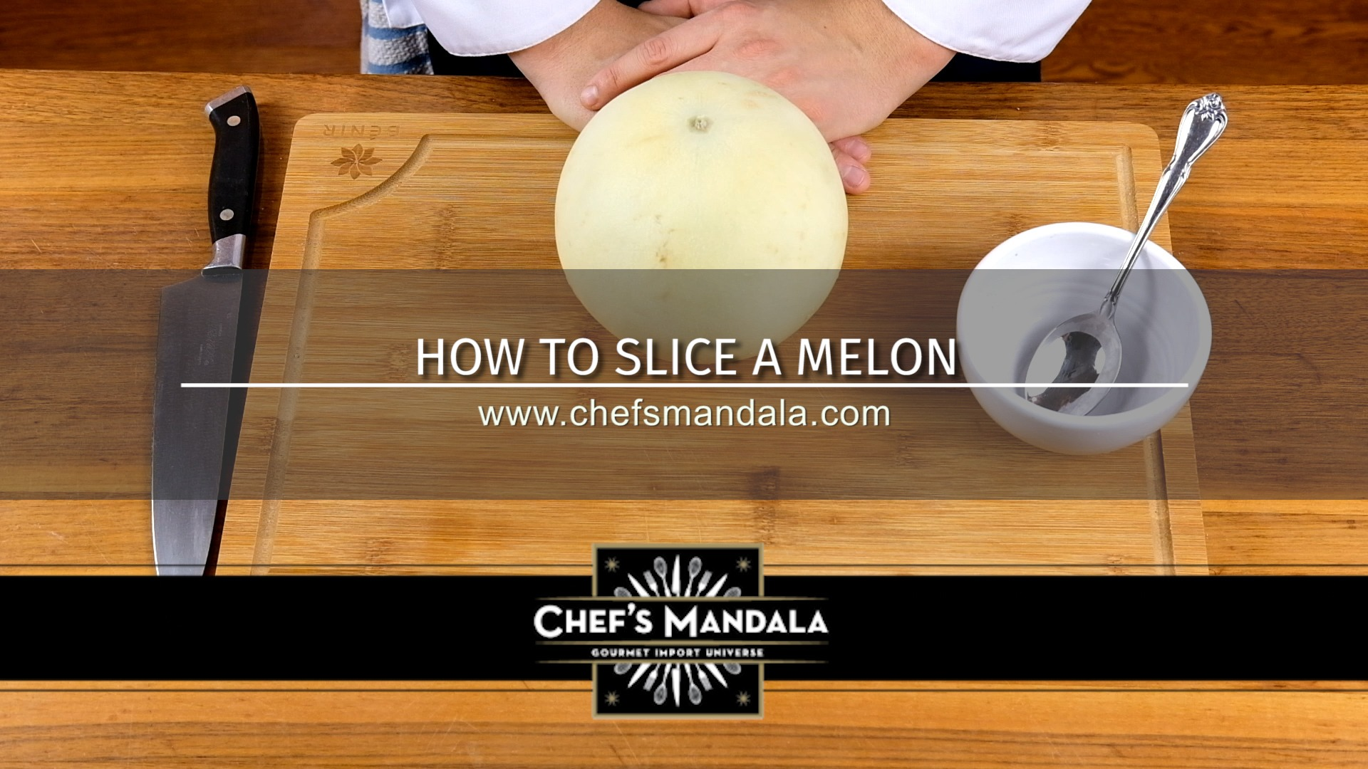 How to slice a melon