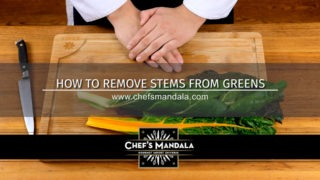 How to remove stems from greens